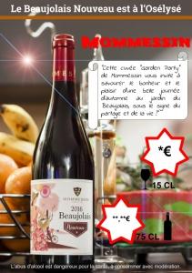 Beaujolais Nouveau 2016 - Mommessin