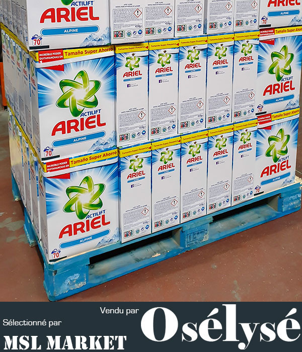 ARIEL - ALPINE Lessive en Poudre baril de 4,5 KG 70 Lavages