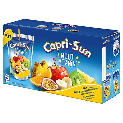 CAPRI SUN - Multivitamin Lot de 4 Packs de 10 poches x 200 ml