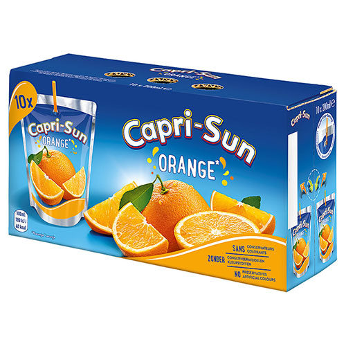 CAPRI SUN – ORANGE Lot de 4 Packs de 10 poches x 200 ml