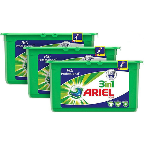 Ariel PODS 3en1 Professional - Lot de 3 x 35 lavages