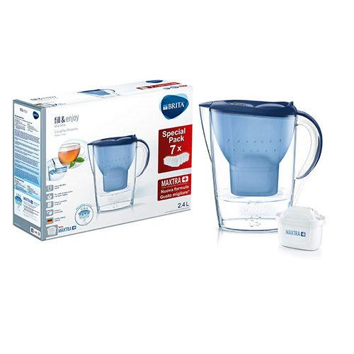 BRITA Marella Blue 2,4 L Bleue avec 7 Filtres Maxtra+ inclus