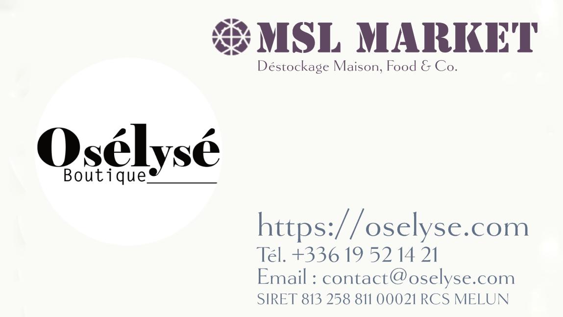 Contact OSÉLYSÉ Boutique
