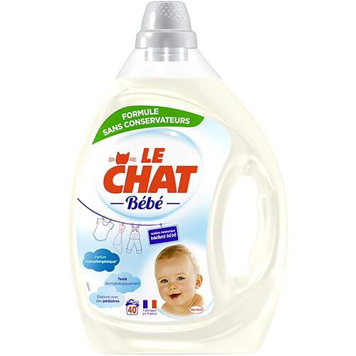 LE CHAT BÉBÉ - Lessive Liquide Hypoallergénique 2 Litres 40 Lavages