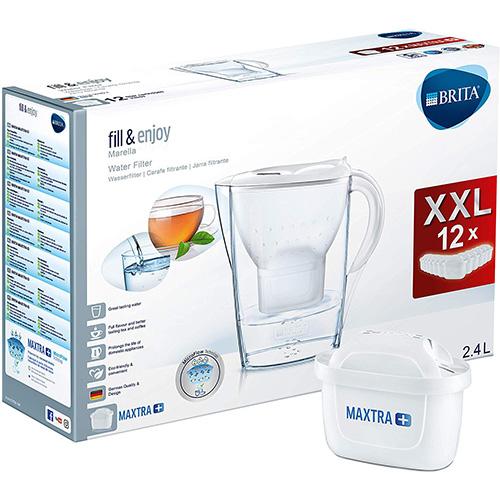 BRITA Marella White 2,4 L Blanc avec 12 Filtres Maxtra+ inclus