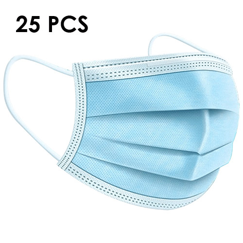 Lot de 25 Masques 3 Plis Chirurgicaux Norme EN14683:2019 TYPE 2R