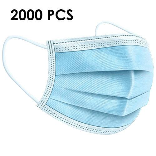 Lot de 2000 Masques 3 Plis Chirurgicaux Norme EN14683:2019 TYPE 2R