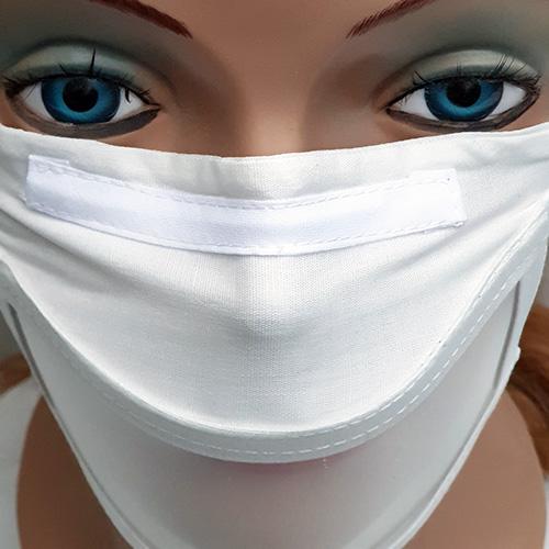Masque Barrière Transparent Réutilisable Made in France - Blanc