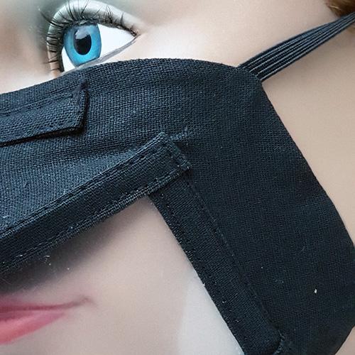 Lot de 5 Masques Barrières Transparents Made in France - Noir