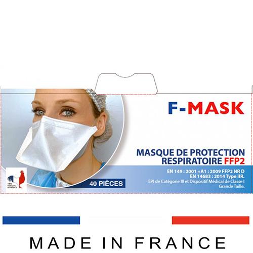 Masque FFP2 NR PRISM F-MASK Bec de canard Made in France