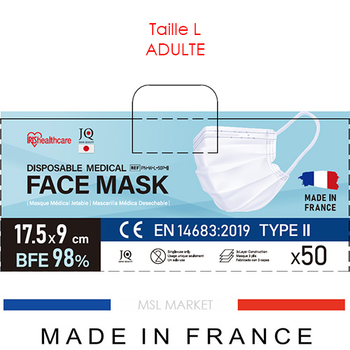 Masque ADULTE Iris Ohyama TYPE 2 – Made in France