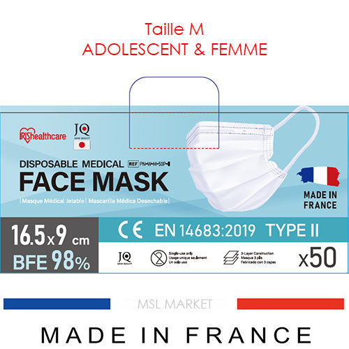 Masque ADO et FEMME Iris Ohyama TYPE 2 – Made in France