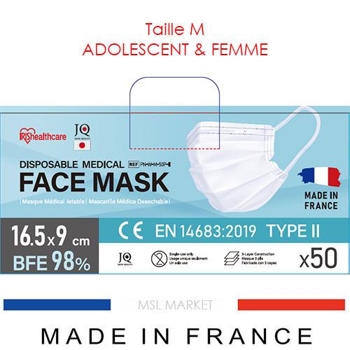 Masque ADO et FEMME Iris Ohyama TYPE 2 – Made in France