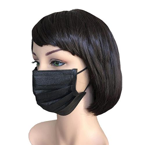 Masque 3 plis chirurgicaux norme en14683 type 2R NOIR